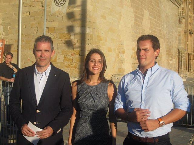 Jorge Soler, Inés Arrimadas y Albert Rivera, C's