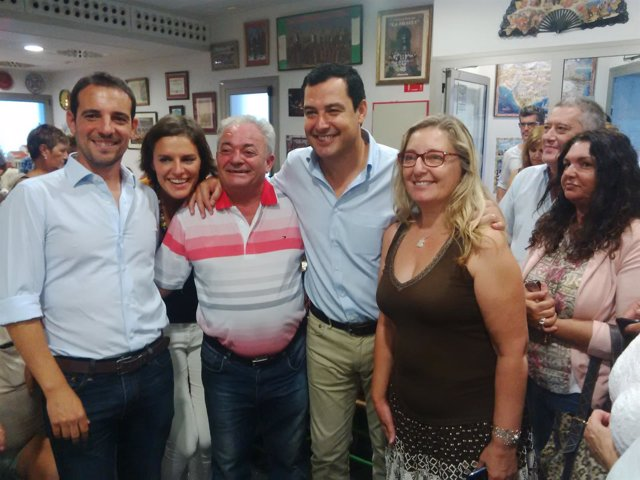 Juanma Moreno, en Castelldefels