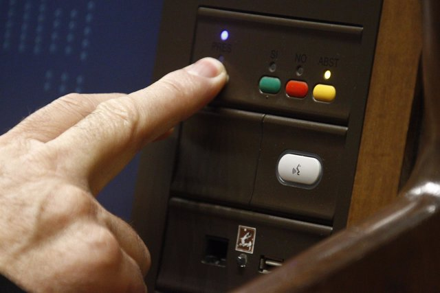 Votación en el Congreso de los Diputados, hemiciclo
