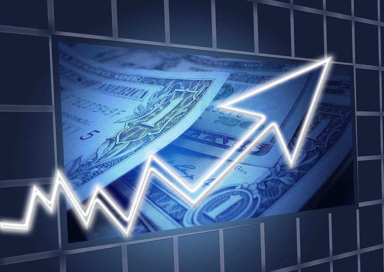 Dólares y una flecha