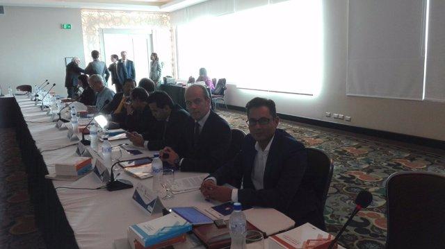 Francisco Pomares en un encuentro iberoamericano
