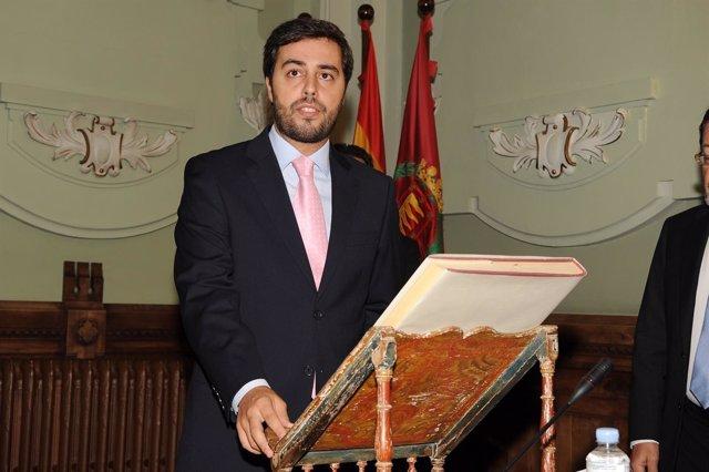 Borja García Carvajal, en su última toma de posesión como conceja