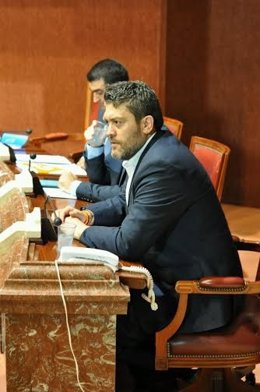 El portavoz de C's en la Asamblea Regional, Miguel Sánchez en Asamblea