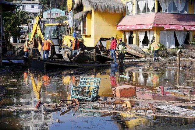 Daños provocados por el terremoto en Coquimbo