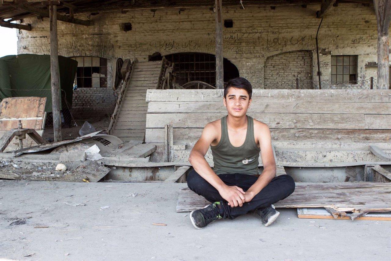 Haseeb Khan, refugiado afgano en Serbia