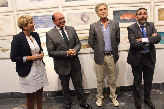Inauguración de la muestra 'Peces' de Pedro Cano