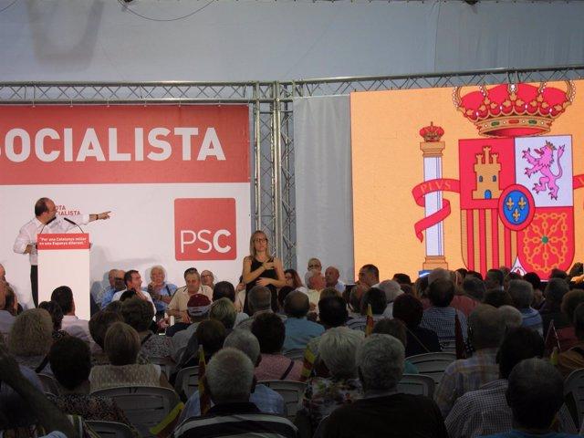 Miquel Iceta en un acto de campaña del 27S