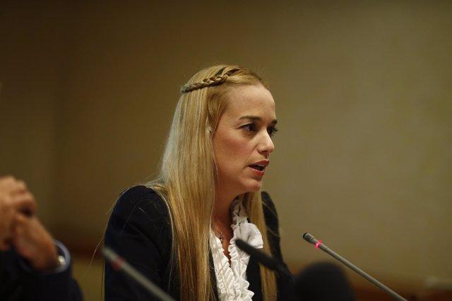 Lilian Tintori, mujer de Leopoldo López, en España