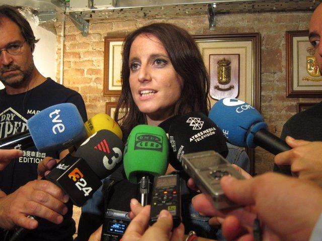 Andrea Levy (PP) en declaraciones esta Diada en Barcelona