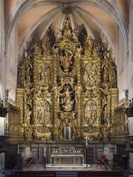 Retablo barroco de Santa Maria de Arenys de Mar