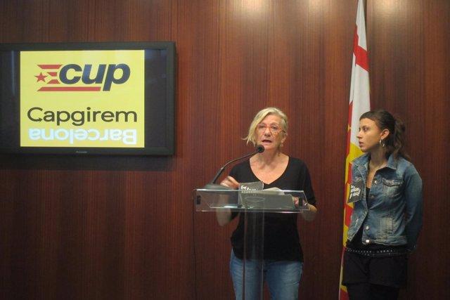 Maria José Lecha y Maria Rovira (CUP)