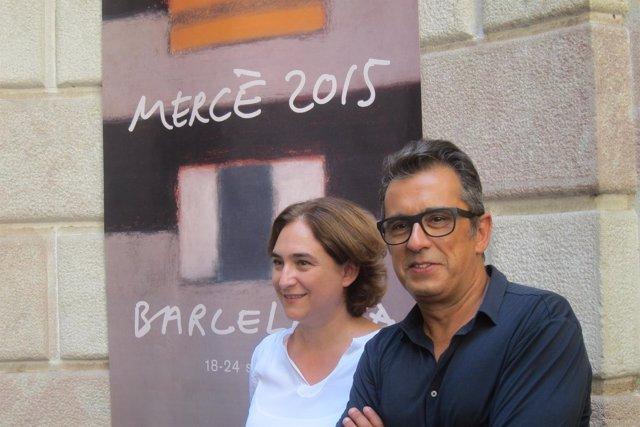 Ada Colau y Andreu Buenafuente en la presentación de la Mercè 2015