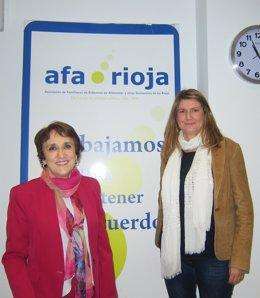 Ana Ayensa y Esperanza Moraga, de AFA-Rioja