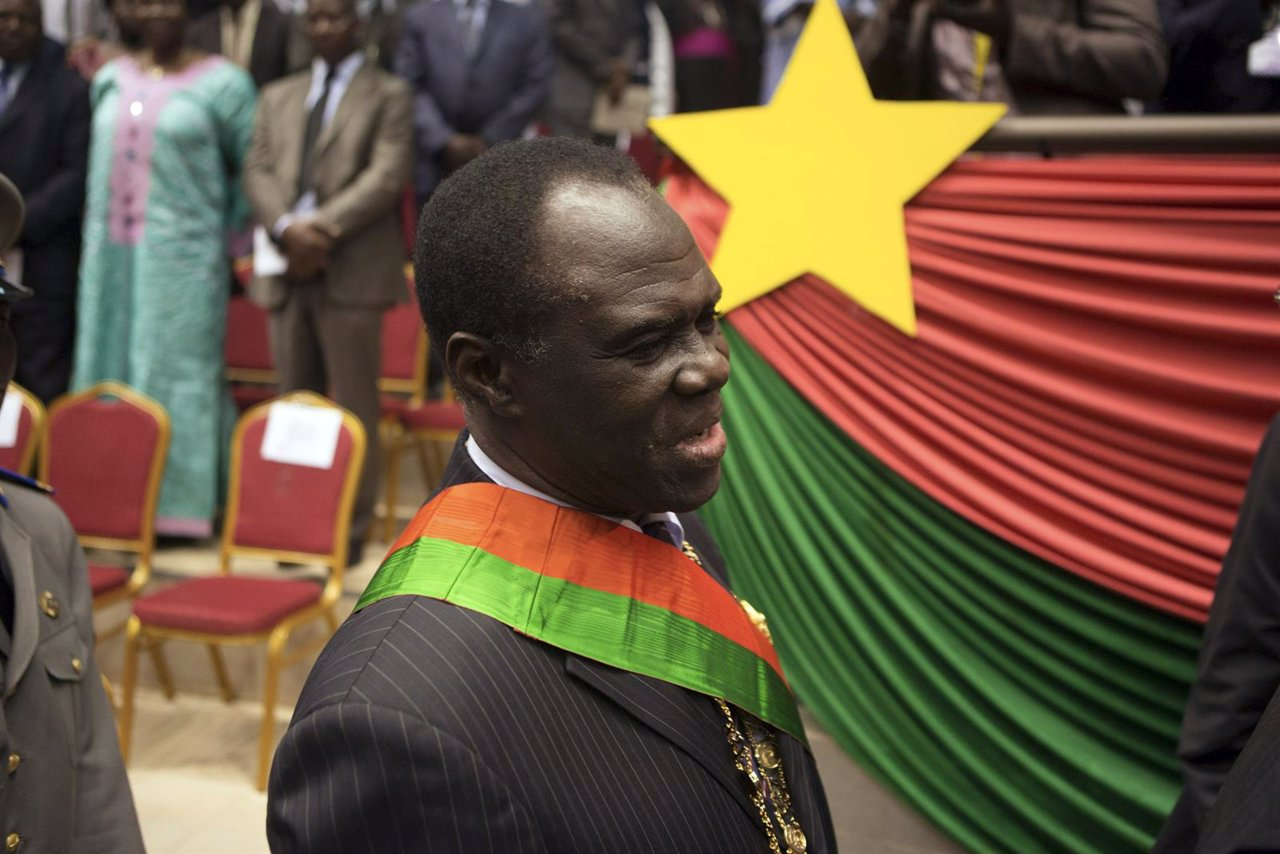 Michel Kafando, presidente  de Burkina Faso