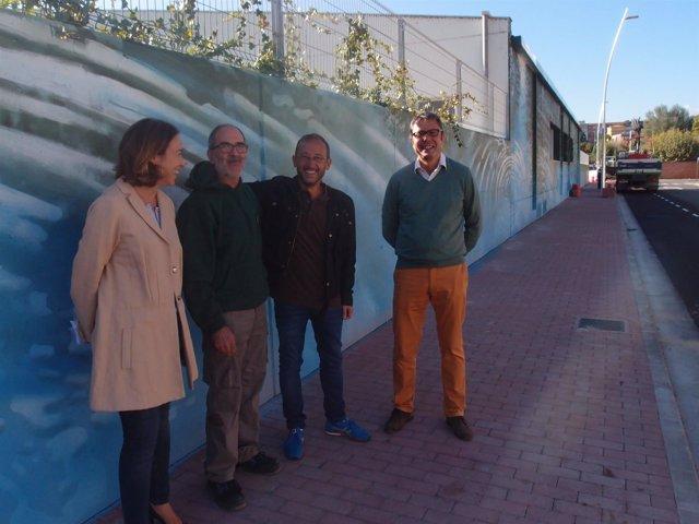 Imagen del mural en el entorno del Adarraga