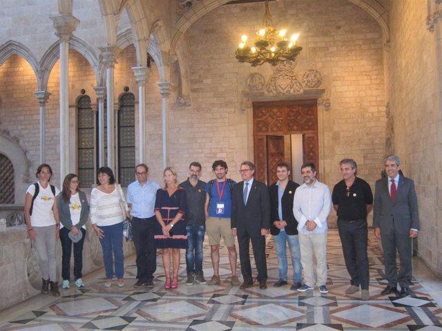 ANC y Òmnium se reúnen con el presidente Artur Mas tras la Via lliure
