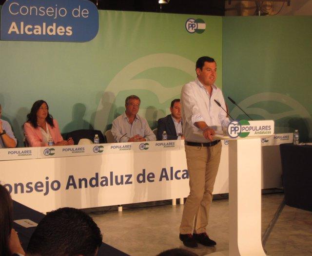 Intervención de Juanma Moreno ante el Consejo de Alcaldes del PP-A