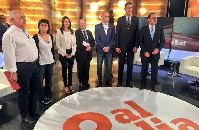 Debate de candidatos a las elecciones catalanas 27S de 2015