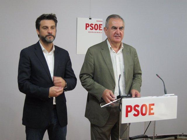 Joaquín López y Rafael González Tovar, en la rueda de prensa