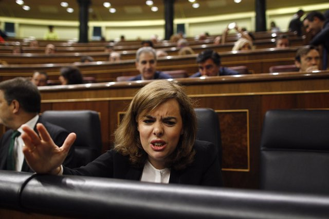 Soraya Santamaría en el Congreso