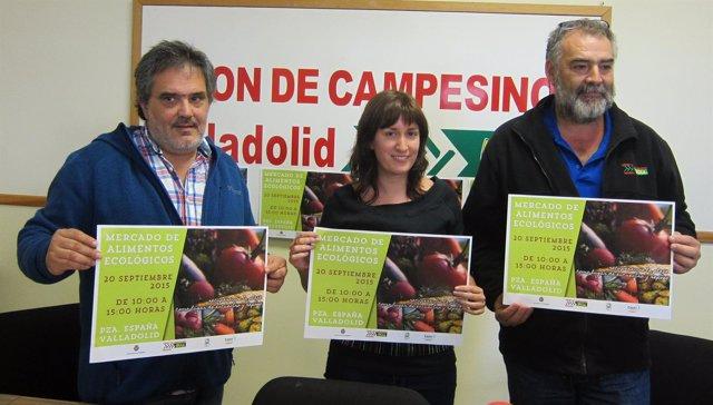 Emilio Alba, María Sánchez y Valentín García en la presentación de la feria