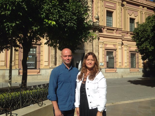 Verónica Pérez y Manuel Girela en el museo de Bellas Artes