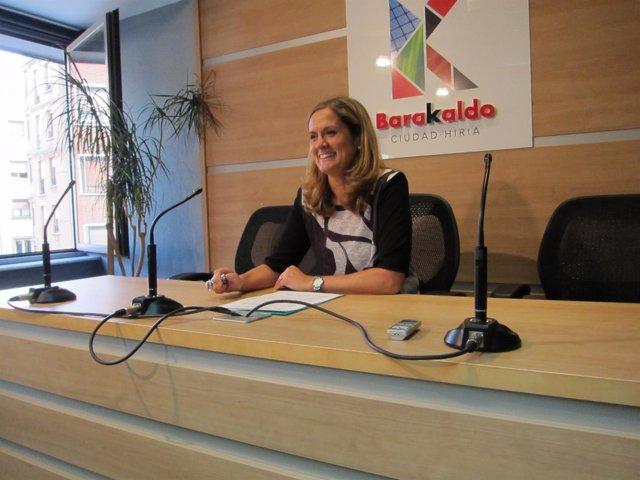 La alcaldesa de Barakaldo, Amaia del Campo