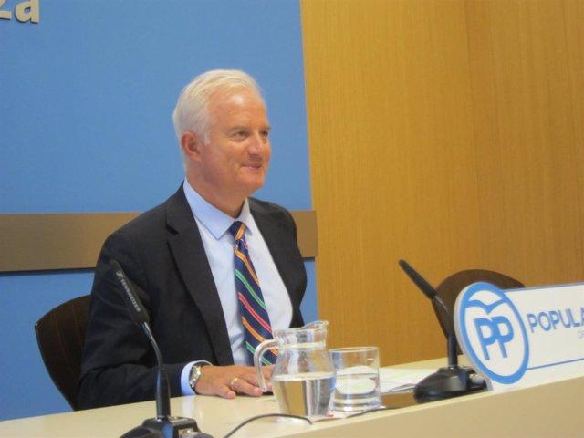 El portavoz del grupo municipal del PP, Eloy Suárez