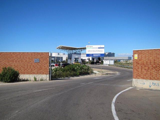 Entrada del CTRUZ o Ecovertedero de Zaragoza