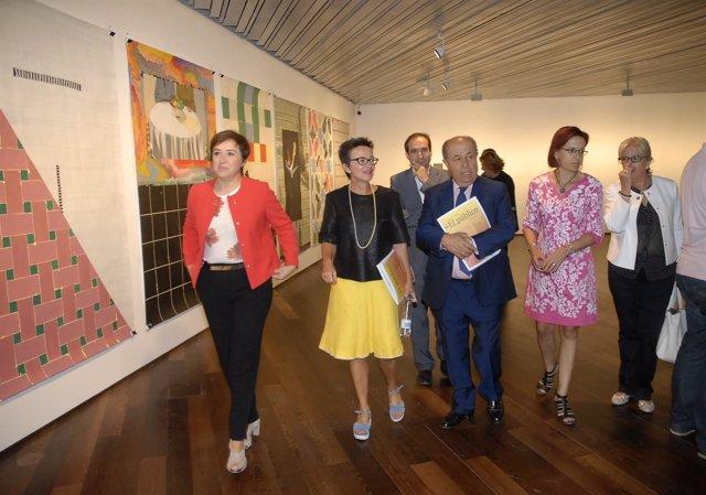 Inauguración de una exposición en el Centro Lorca