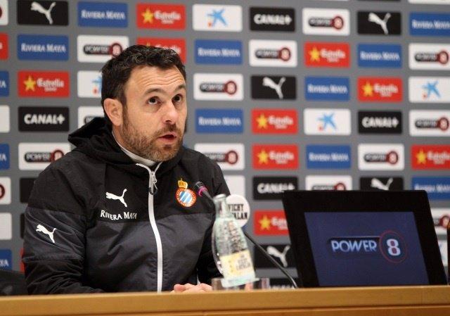 El técnico del Espanyol, Sergio González