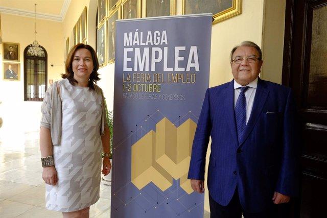 María del Mar Martín Rojo, concejala, y Pérez Casero, Cámara Comercio