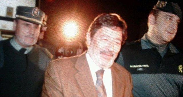 Francisco Javier Guerrero tras salir de los juzgados
