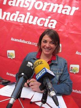La portavoz adjunta de IULV-CA en el Parlamento andaluz, Elena Cortés