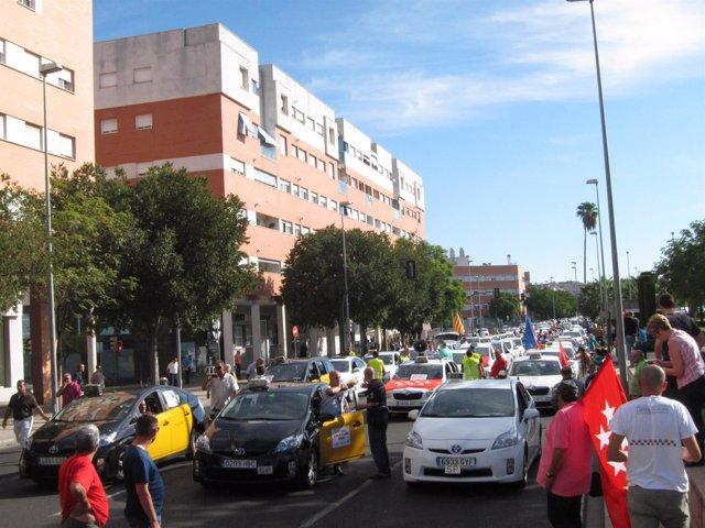 La manifestación de los taxis