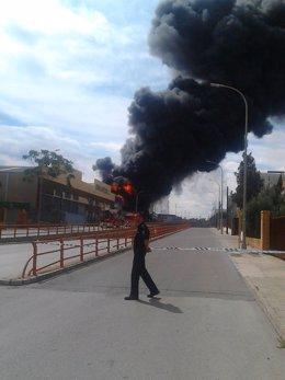 Incendio en Fuente del Jarro