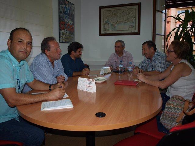 Reunión entre CCOO y el concejal Rafael del Castillo