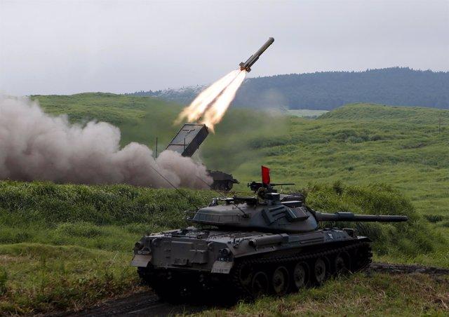 Las Fuerzas de Autodefensa de Japón, en unas maniobras