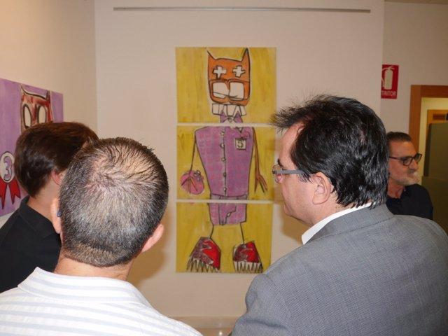 Inauguración de la exposición de Ramón Francos, 'Marranadas'