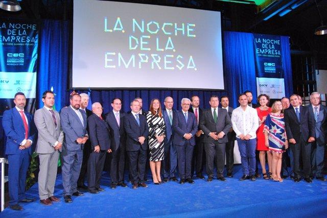Foto de familia de la 'Noche de la Empresa' de la provincia de Cádiz