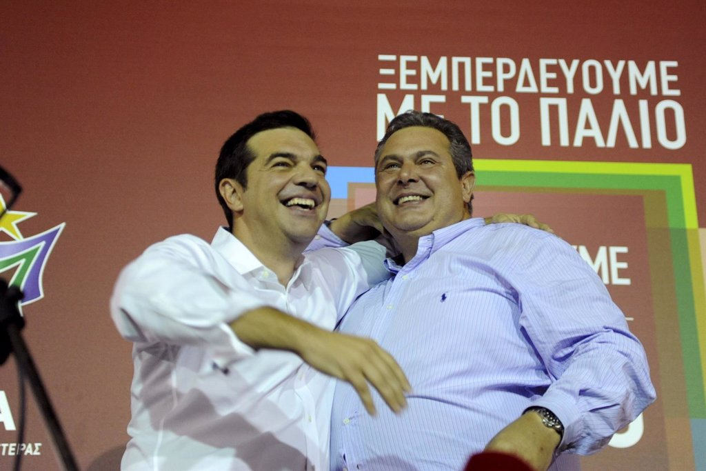EllíderdeSYRIZA,Tsipras,yeldeGriegosIndependientes