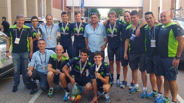 El Team Movistar logra el bronce en el Mundial de Richmond