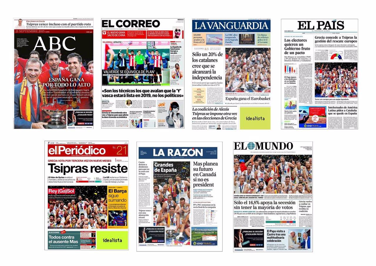 Portadas prensa del 21 de septiembre