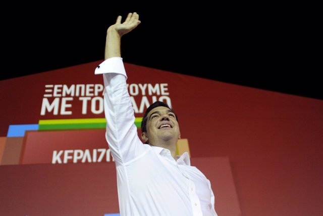 El líder de la Coalición de la Izquierda Radical (SYRIZA), Alexis Tsipras