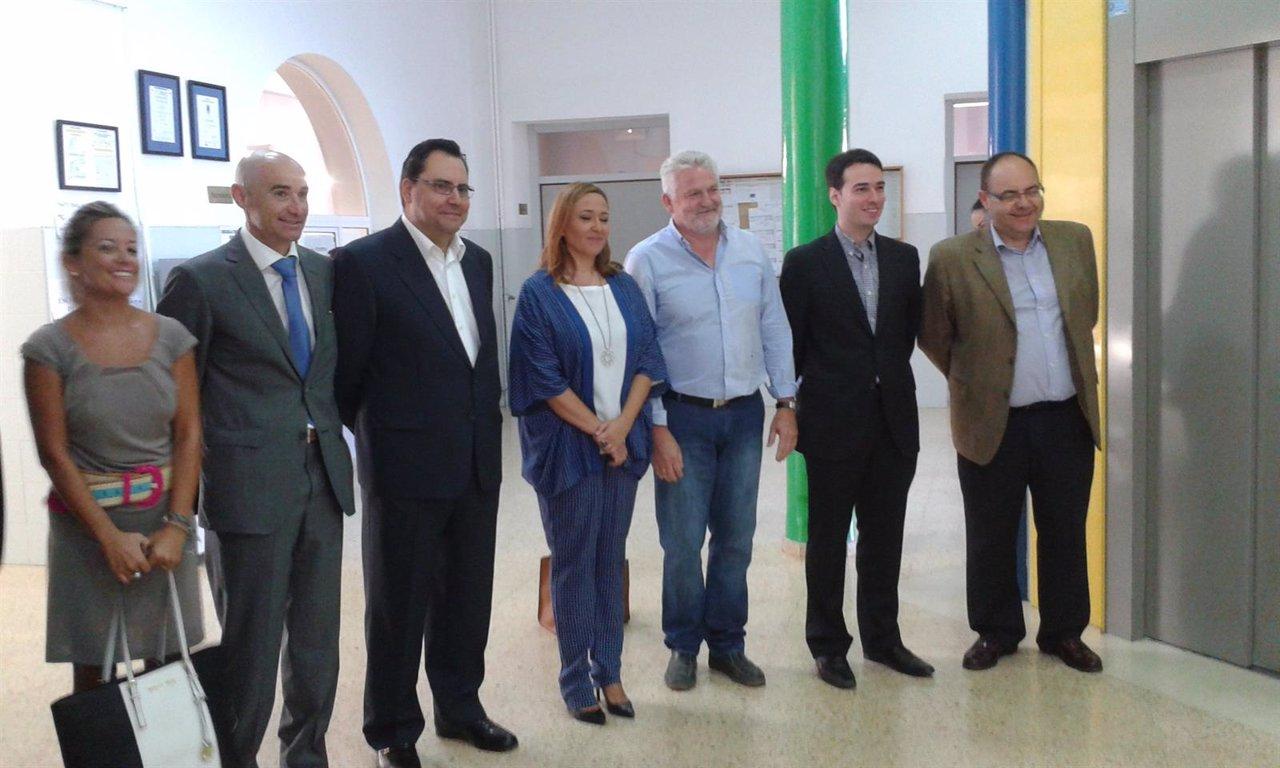 Visita de Mayte Pérez al IES 'Santa Emerenciana'