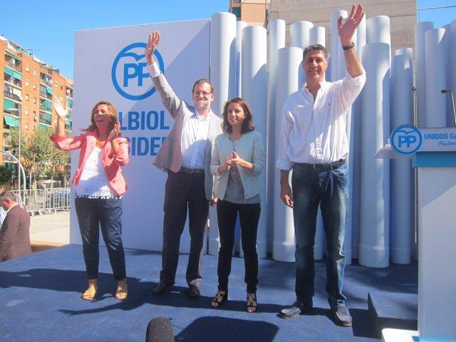 Alícia Sánchez Camacho, Mariano Rajoy, Andrea Levy, Xavier García Albiol (PP)