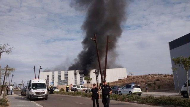 Incendio en una empresa del PITA