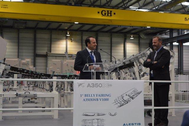 Alestis entrega la primera 'belly fairing' del A350-1000
