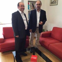 Reunión de Javier Lambán con Miquel Iceta