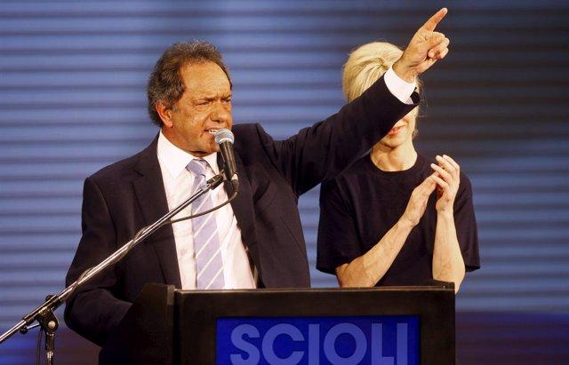 Daniel Scioli, candidato oficialista a las primarias